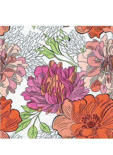 Zentangle Flowers Peçete-Dünya Style